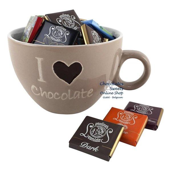 Koffiemok 'I love Chocolate' Napolitains