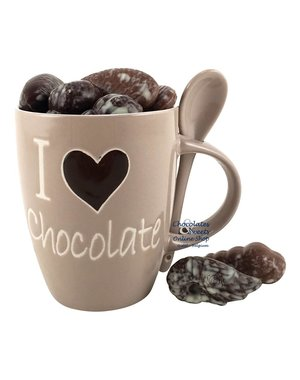 Mug 'I love chocolate' Seashells 230g