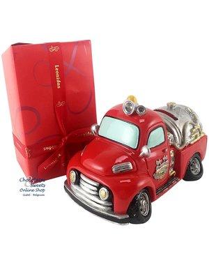 500g Pralinen + Feuerwehrauto Spardose
