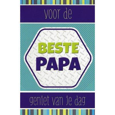 Carte de voeux 'Voor de beste Papa'