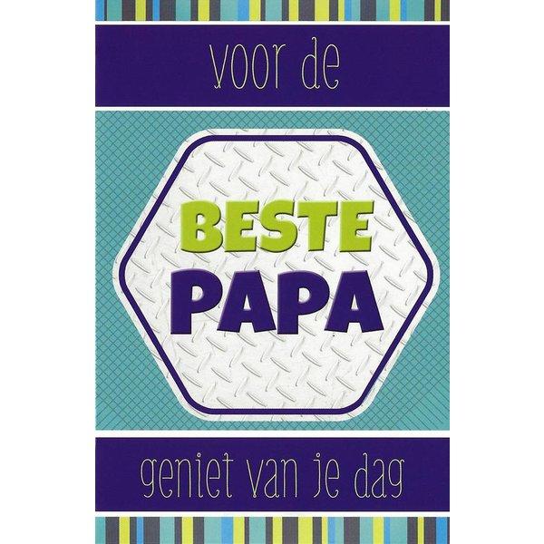 Grußkarte 'Voor de beste Papa'