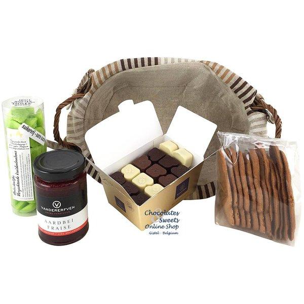 Gift basket (oval) Light in Sugar