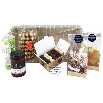 Geschenkkorb mit Delikatessen Ohne Zuckerzusatz