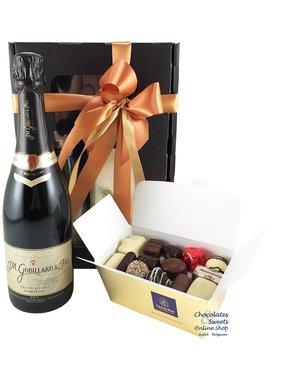 500g Pralinen und Flasche Champagne Gobillard