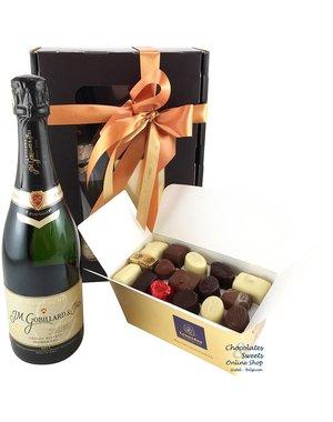 750g Pralinen und Flasche Champagne Gobillard