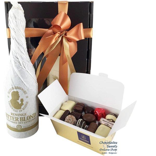 500g chocolats de Leonidas et de la Bière artisanal