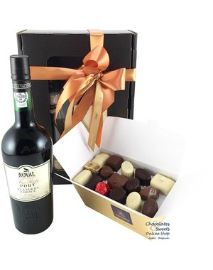 750g Chocolates and red Port
