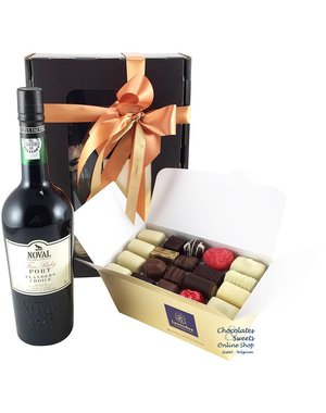 1kg Chocolates and red Port