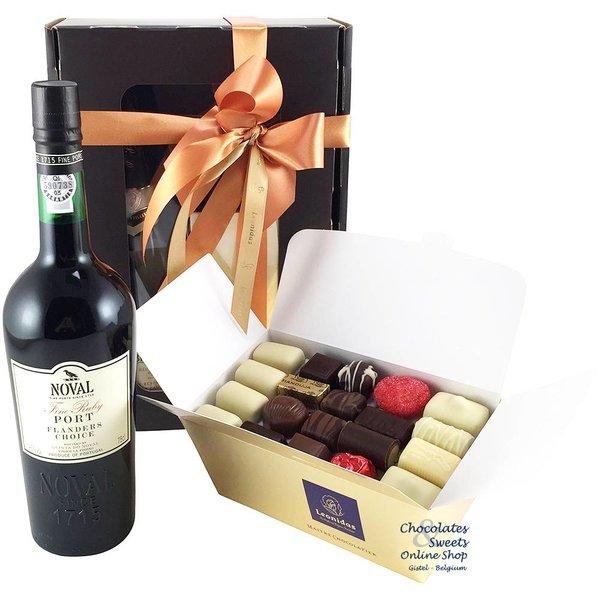 1kg Leonidas Chocolates and red Port
