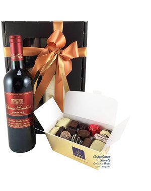 500g Chocolates and Red Wine