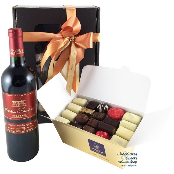 1kg Leonidas Chocolates and red wine