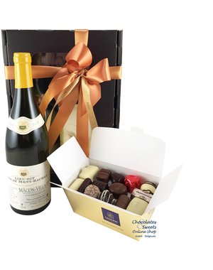 500g Chocolates and White Wine