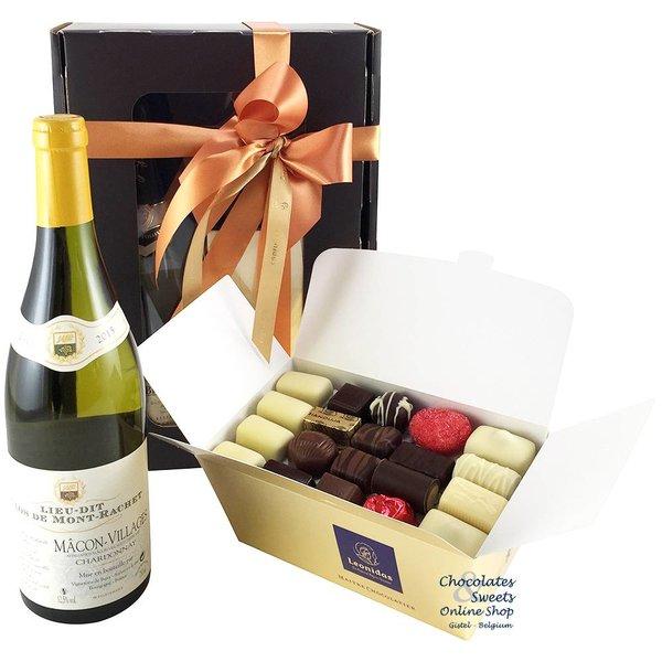 1kg Leonidas Chocolates and white wine