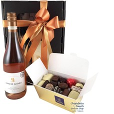 500g Chocolates and Rosé Wine