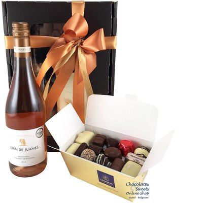 500g Leonidas Chocolates and Rosé Wine