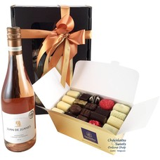 1kg Chocolates and Rosé Wine