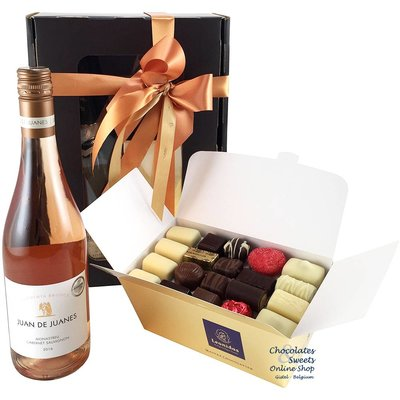 1kg Leonidas Chocolates and Rosé Wine