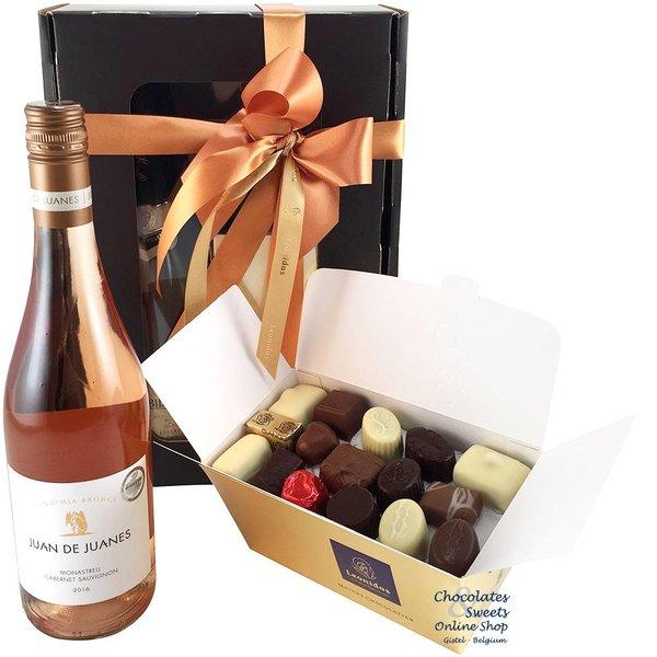 750g Leonidas Chocolates and Rosé Wine