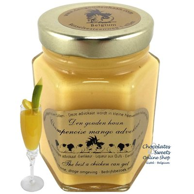 Den Gouden Haan Champagne Mango advokaat 125g