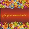 Wenskaart 'Joyeux Anniversaire'