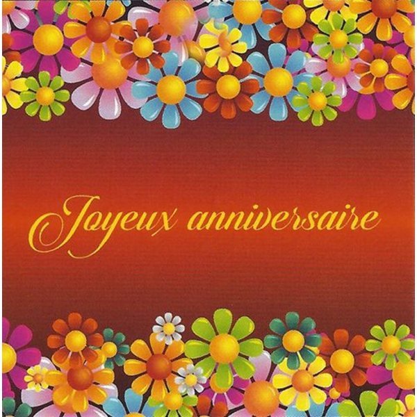 Greeting Card 'Joyeux Anniversaire'
