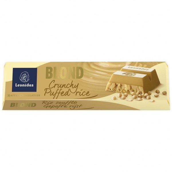 Leonidas Riegel Blonde Schokolade mit Puffreis 50g