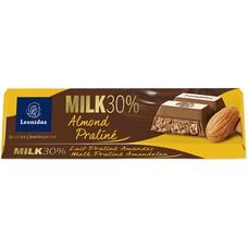 Leonidas Bar Milk - Praliné & Almonds 45g