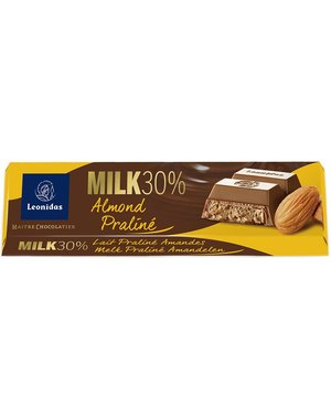 Leonidas Bar Milk - Praliné & Almonds 50g