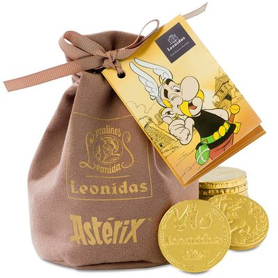 Leonidas Asterix-Pouch with 200g Chocolate Coins