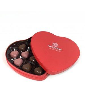 Leonidas Heart tin 12 chocolates (hearts)