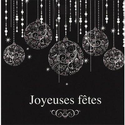 Grußkarte 'Joyeuses fêtes'