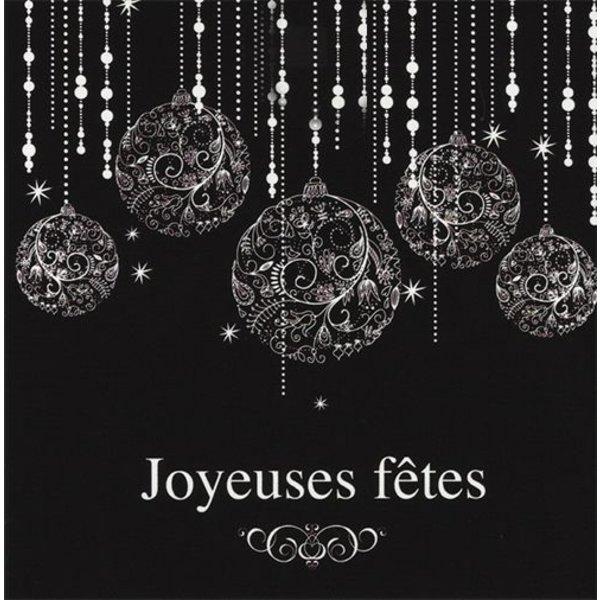 Wenskaart 'Joyeuses fêtes'