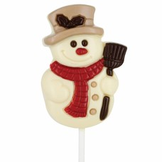 Leonidas Lollipop Snowman white