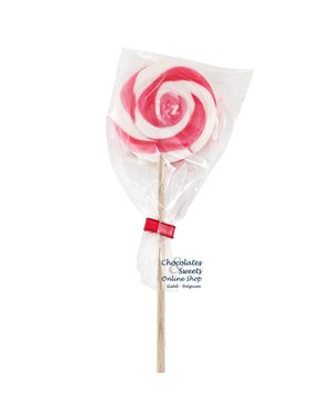 Spiraal lolly wit / roze