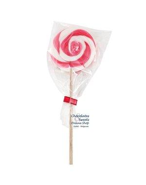 Spiral Lolly weiß / rosa