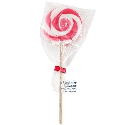 Spiral lollipop white / pink
