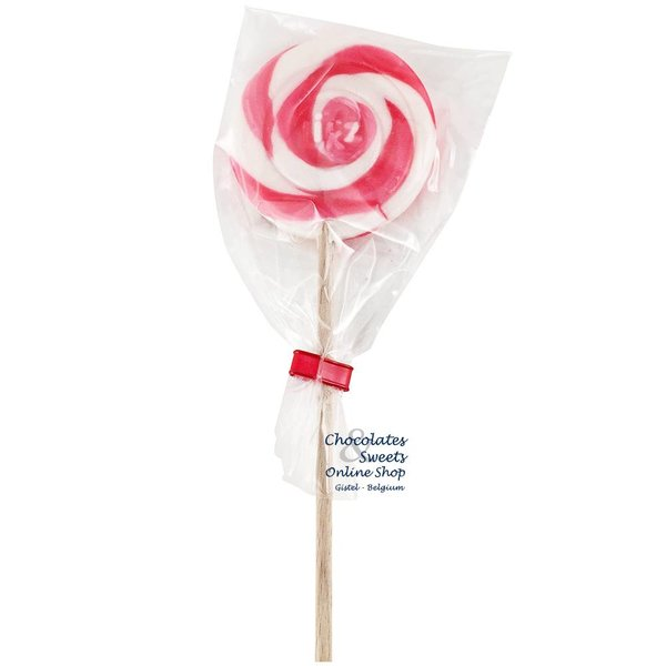 Spiraal lolly wit / roze