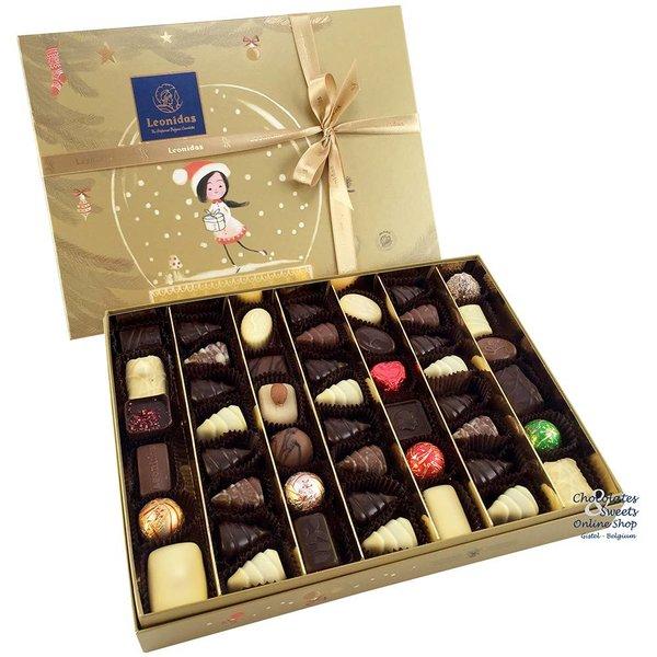 Leonidas Golden Christmas box with 48 chocolates