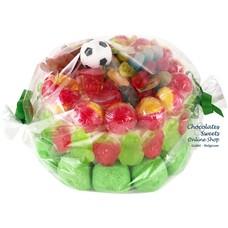 Gâteau de bonbons mélange football