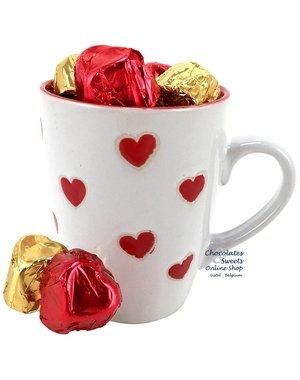 Leonidas Mug 'LOVE' 200g chocolates (hearts)