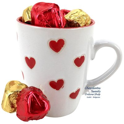 Leonidas Mug 'LOVE' 240g chocolates (hearts)