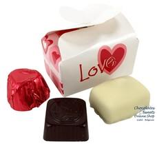 Leonidas Mini-box 'LOVE' 3 chocolates