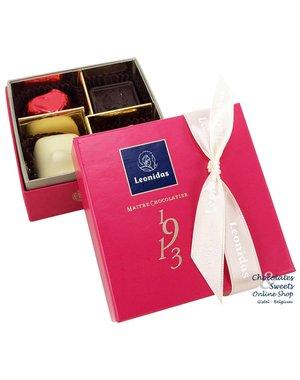 Leonidas Ballotin de luxe (fuchsia) 4 chocolats
