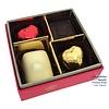 Leonidas Mini-ballotin (fuchsia) 4 chocolats