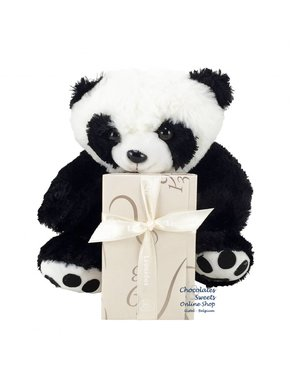 Leonidas 250g chocolates and Panda bear (25cm)
