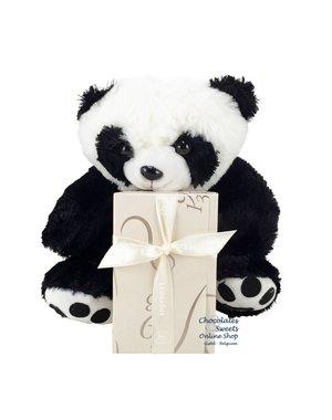 Leonidas 250g chocolats et Panda en peluche (25cm)
