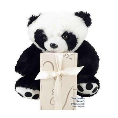 Leonidas 250g chocolates and Panda bear (20cm)