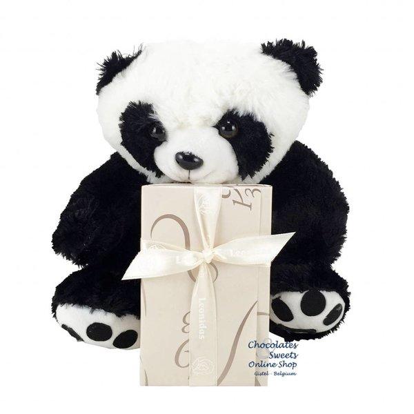 Leonidas 250g chocolates and Panda bear (25cm)