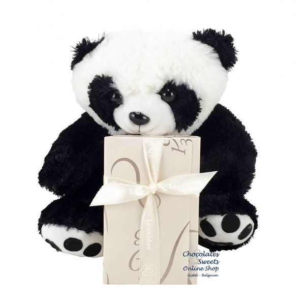 Leonidas 250g Pralines en Pandabeer (25cm)