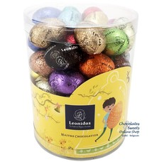 Leonidas Plexi Tube (L) 600g Easter Eggs